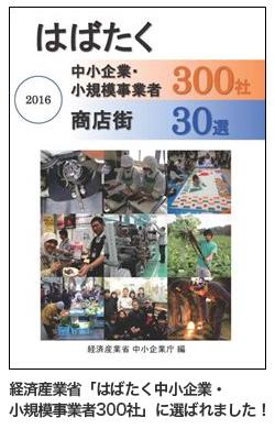 葵スプリングは経済産業省「はばたく中小企業・小規模事業者300社」に選ばれました!